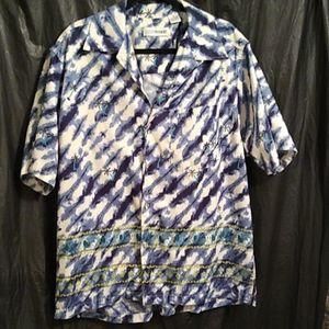 Canyon River Blues shirt w/ palm tree  XL
